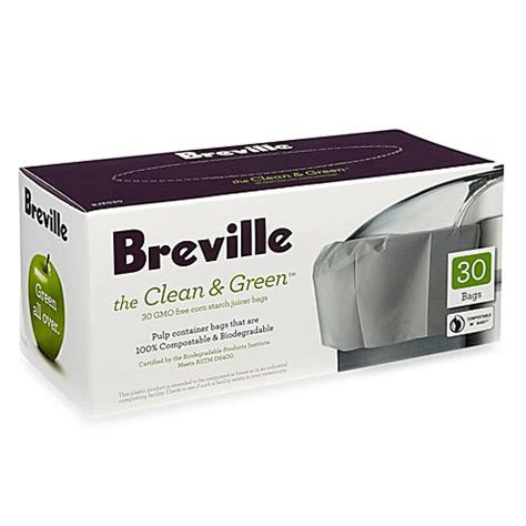 breville juicer bed bath and beyond breville 174 the clean green 30 count juicer bags bed