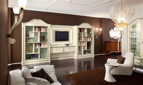 librerie salotto parete attrezzata per soggiorno con librerie gemelle