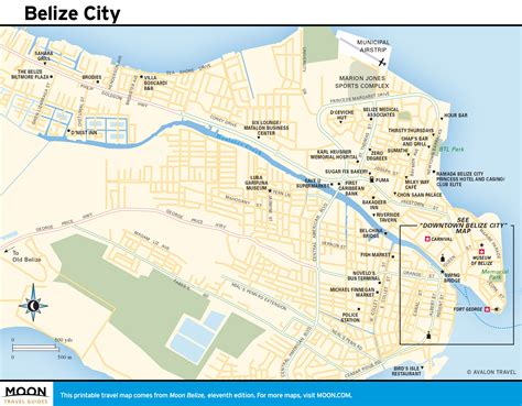 map city of printable travel maps of belize moon travel guides