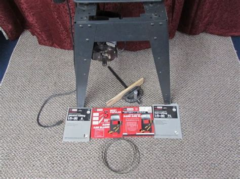 craftsman capacitor start motor unit lot detail sears craftsman 12 quot band saw with stand fence powers up