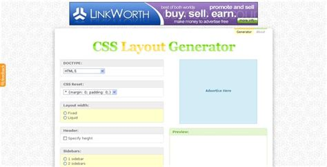 css layout column generator 30 best css3 generators for developers html 140