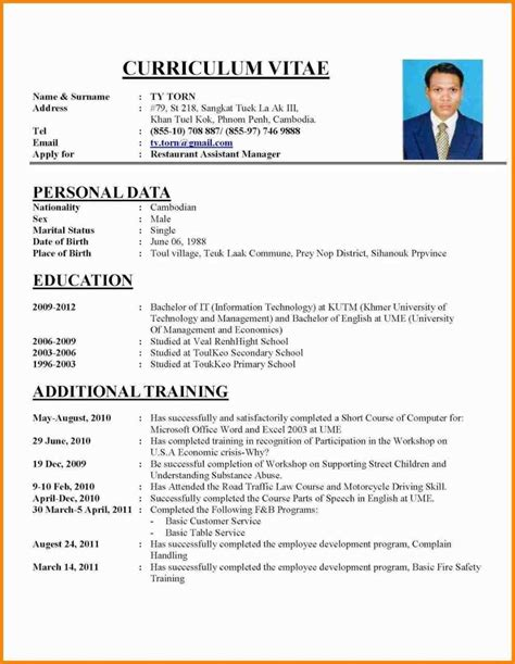 exles of cv resumes cv exles for application meltemplates