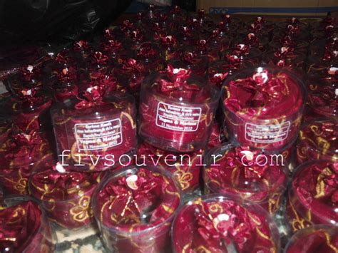 Souvenir Pernikahan Tempat Tisu Organdi souvenir tempat tisu cantik fiv souvenir