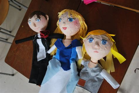 Handmade Puppets Patterns - cinderella handmade puppets by smallsmiles on deviantart