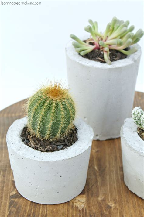 Concrete Planters Diy by 10 Diy Home Decor Ideas Bakerette