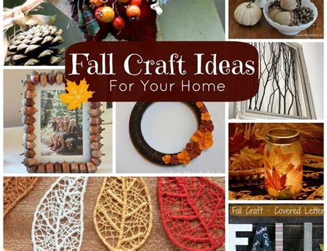 fall craft ideas for free ideas for fall crafts