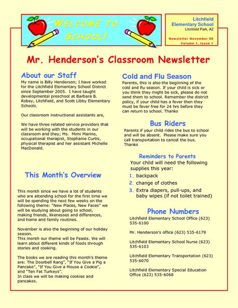 17 Best Images About Preschool Newsletters On Pinterest Newsletter Templates Weekly Early Childhood Newsletter Templates