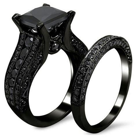 Wedding Rings Black Gold by S Retro Black Gold Wedding Engagement Band