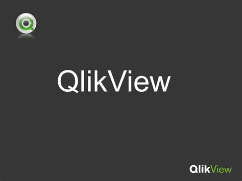 qlikview tutorial ppt qlikview ppt