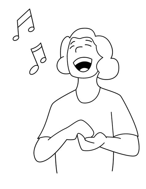 singing printable coloring pages