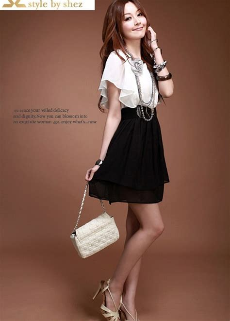 Dress Mini Korean mini dress korea cantik terbaru murah model terbaru