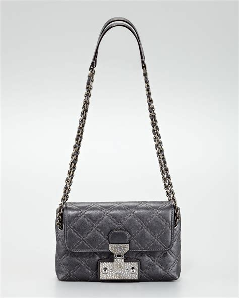 Marc Single Quilted Bag by Marc The Single Baroque Quilted Bag Small In Black