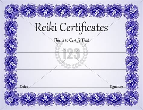 most healing reiki certificates for download