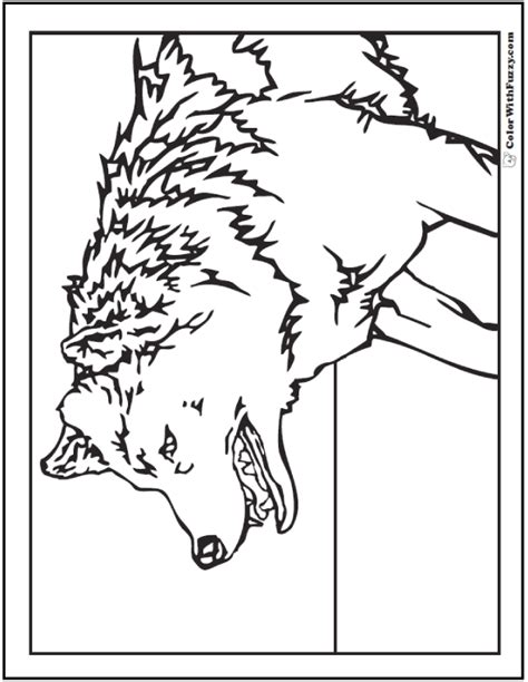 pictures to color wolf coloring pages print and customize