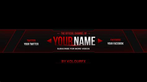 youtube channel banner layout youtube banner template www pixshark com images