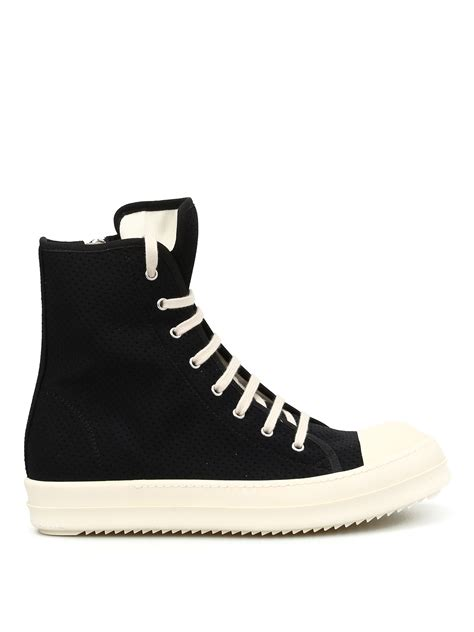 Canvas High Top Sneakers drkshdw canvas high top sneakers by rick owens trainers