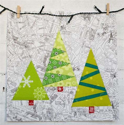 paper pieced christmas trees christmas sewing modern
