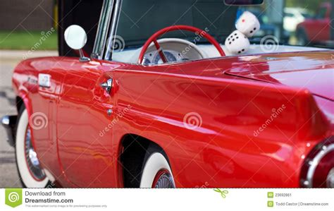 condition red antique mint condition red car stock image image 23692861
