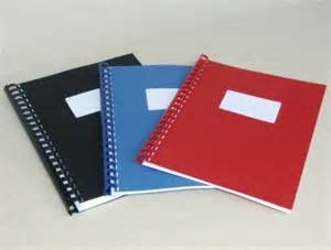 report covers with window blue binding covers with window