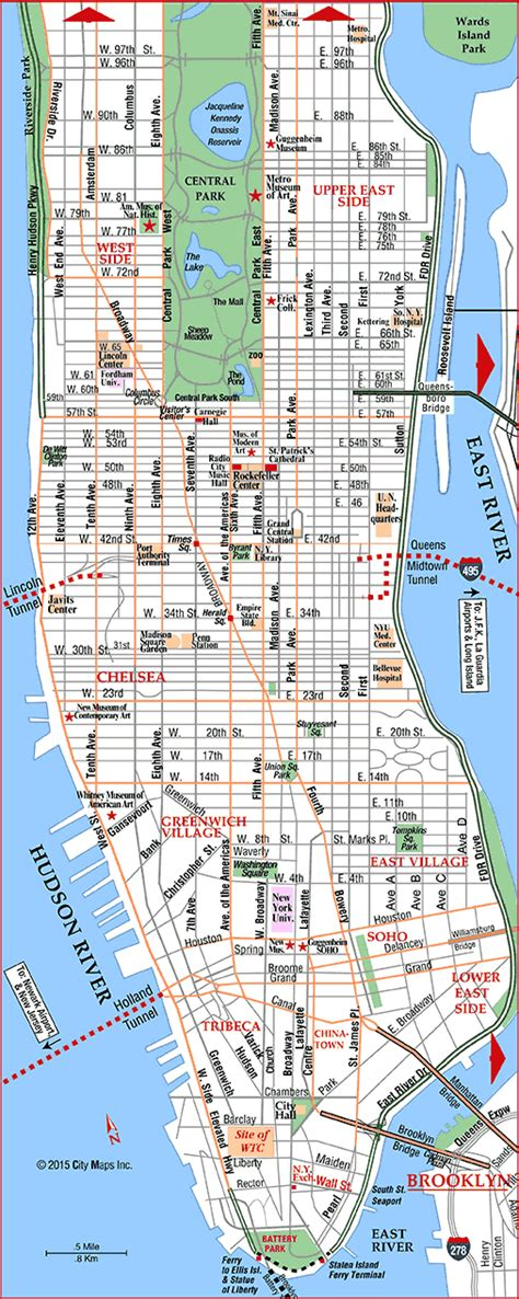 a map of manhattan new york road map of manhattan manhattan new york aaccessmaps