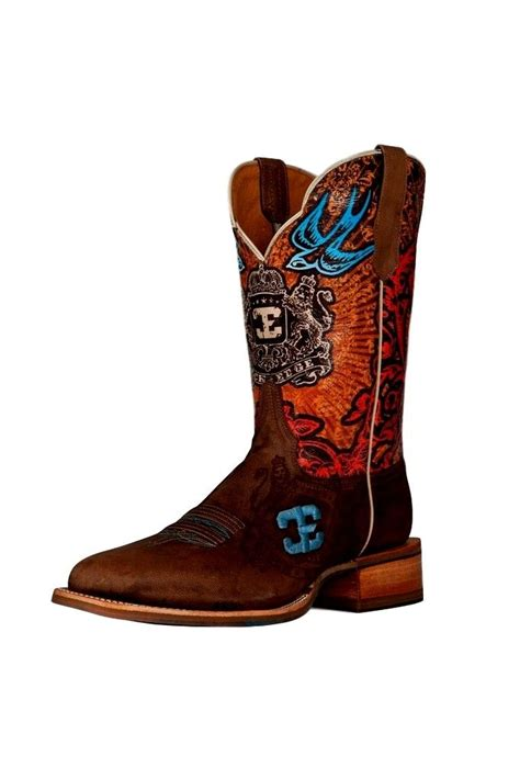 cinch boots mens cinch western boots mens cowboy edge cabra mad bone