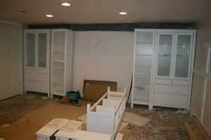Ikea Basement Ideas by Hometalk Wall Of Built Ins Out Of Ikea Hemnes Cabinets