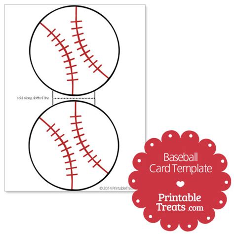 Baseball Template by Printable Baseball Card Template From Printabletreats