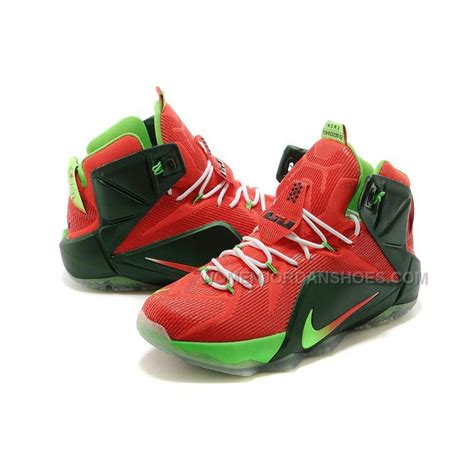 cheap basketball shoes cheap nike lebron 12 green white basketball shoes sale