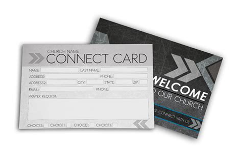 simple church connection card word template church postcard templates evangelical church postcard