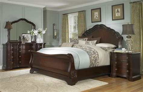 sleigh bedroom set king sleigh beds king size solid wood sleigh bed with rod iron