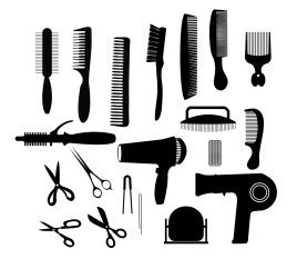 Hairstyle Tools Designs For Silhouette Cameo by Hair Vectors Stock For Free About 103 Vectors
