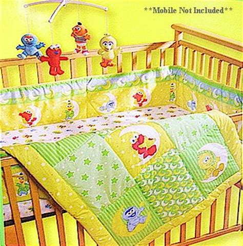 Sesame Street Babyking Elmo Friends Three 3 Pc Crib Sesame Crib Bedding Sets