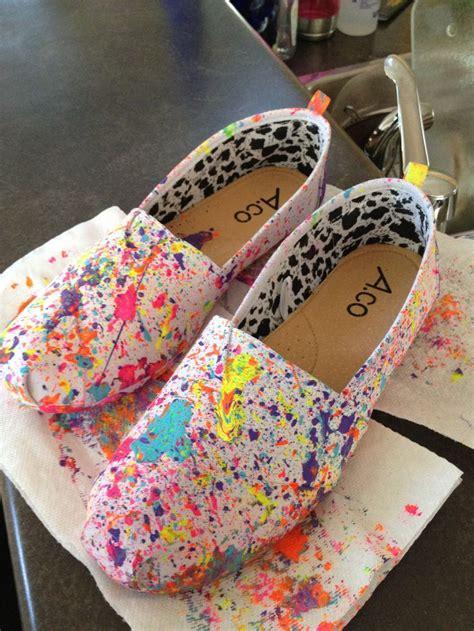 diy shoes paint my diy paint splatter shoes just the paint into a