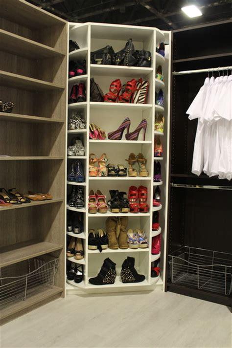 Rotating Closet System by Image Closet Shoe Organizer Rotating