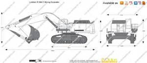 Blueprint Drawing Online the blueprints com vector drawing liebherr r 984 c