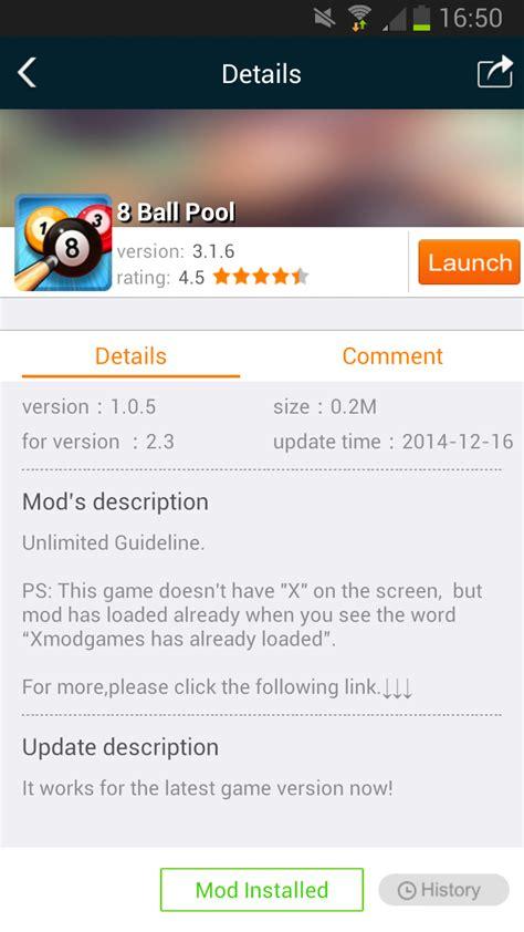 xmodgame com xmodgame 1 v1 0 0 apk 8 ball pool v3 2 5 apk hack unlimited guideline mira