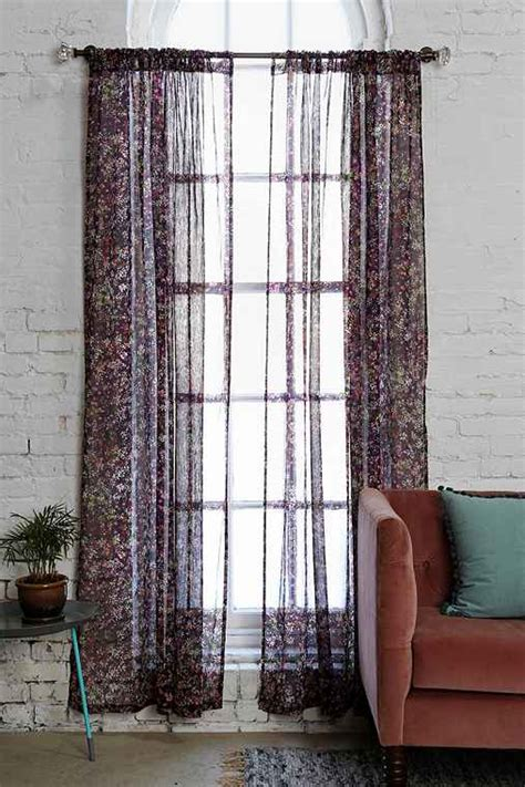 plum flower curtains plum bow georgette flower curtain urban outfitters