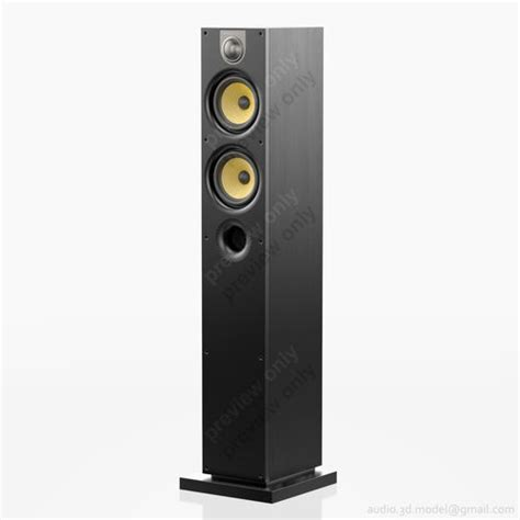 Bowers Wilkins 684 S2 Bw Black Ash bowers and wilkins 684 s2 black ash 3d model max obj 3ds cgtrader