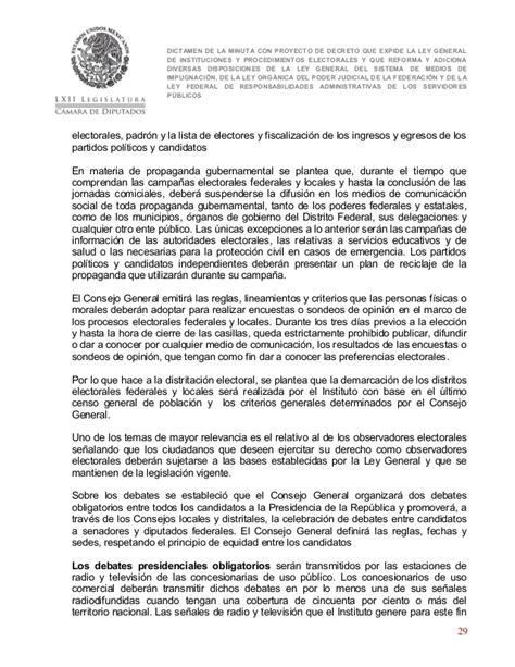 libro larminuta dictamen de la minuta con proyecto de decreto que expide la lgipe