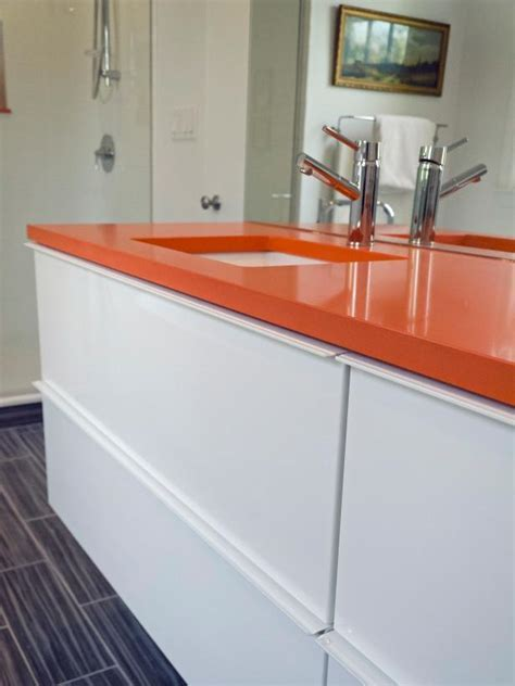 Orange   White Bathroom Makeover   Rachael Franceschina   HGTV