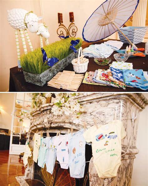 elegant blue boy baby shower ideas baby shower brunch
