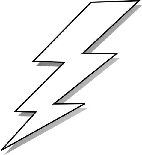 lightning bolt coloring page for kids free printable picture