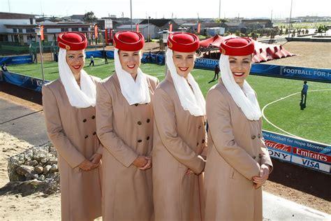 emirates stewardess emirates airlines participates sport caign world