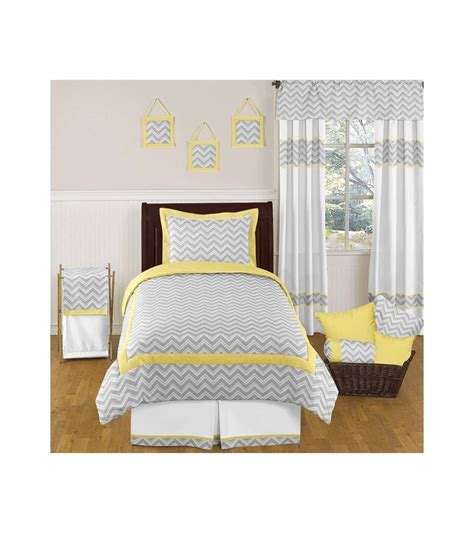 yellow twin bedding sweet jojo designs zig zag yellow grey chevron twin