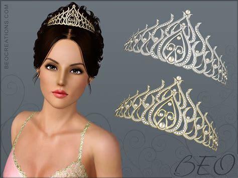 sims 3 cc wedding hair beo creations diamond tiara ts3 hats and hair