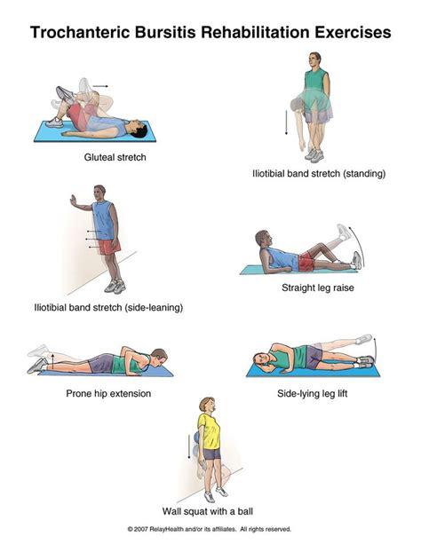 printable hip flexor stretches 1000 images about exercise for hip bursitis on pinterest