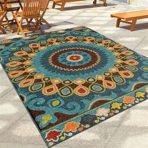 Outdoor Patio Area Rugs Indoor Outdoor Area Rug Decor Rectangle Entry Patio Dining