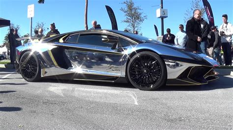 silver and gold lamborghini silver gold lamborghini aventador sv for