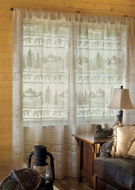 Kitchen Window Valances Ideas Pine Ridge Panel By Heritage Lace Perfect Addition To