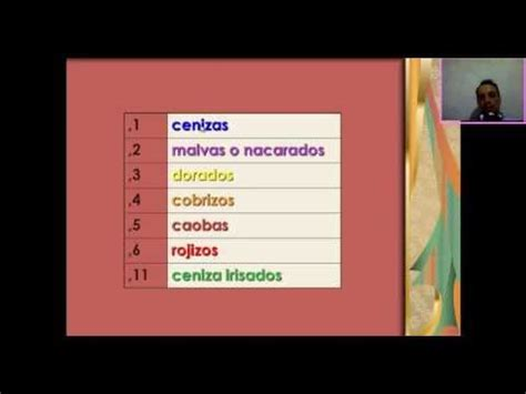 tutorial carta de colores para el cabello youtube color chart hair theory carta de colores para el cabello